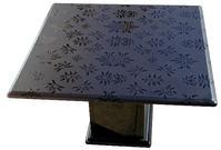 Table Baroque en lave émaillée - Décorée main