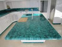 Pierre de lave en meuble de cuisine, lave Brazilia, produite à la main a Salernes en Provence