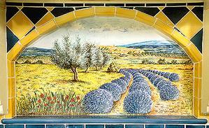 Panneaux décoratifs sur Pierre de Lave - Cuisine, Salle de Bains & Extérieurs