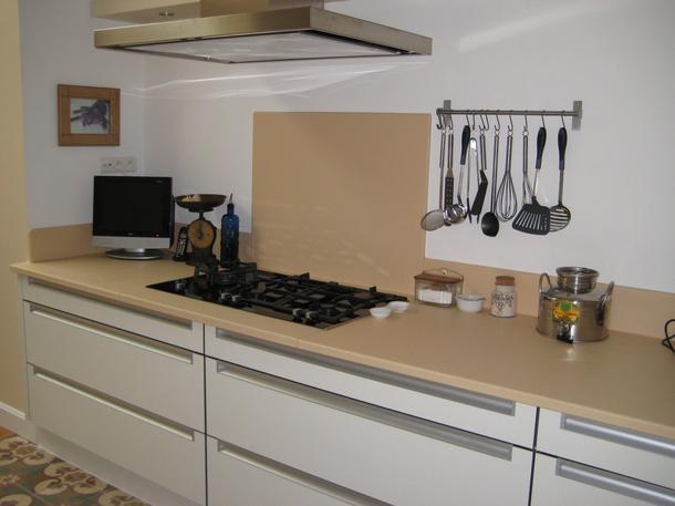 plan de travail de cuisine en lave maill e couleur vanille mat atelier wiart. Black Bedroom Furniture Sets. Home Design Ideas