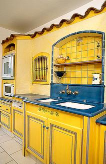 carrelage cuisine jaune et bleu. Black Bedroom Furniture Sets. Home Design Ideas