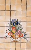 Panneau Décoratif sur 11 x 11 Faits Main : Bouquet de Fleurs