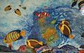 Panneau Décoratif sur Lave : Aquarium