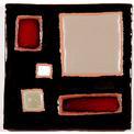 Carreau décoré motif Graphix 9 peint à la main - Salernes