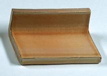 Terre cuite émaillée - gorge 4 x 7 émaillée manuellement