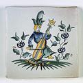 Carreau décoré Moustiers 3 peint à la main - Salernes